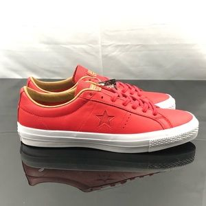 Converse One Star Leather Red  Sand Dune Size 11